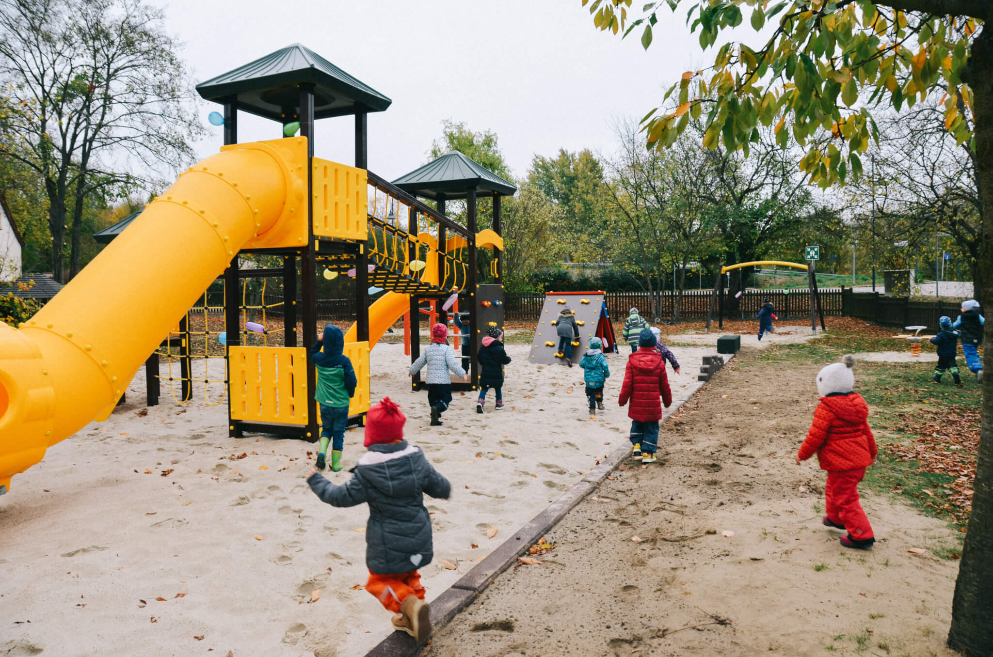 Kita Kinder Spielplatz