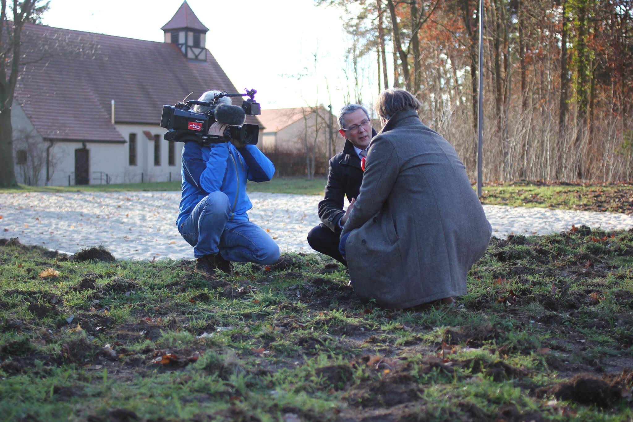 Igel Interview Kamera RBB Weidemann
