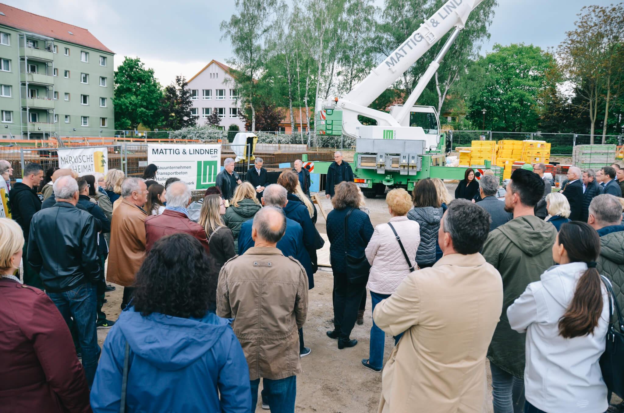 Grundsteinlegung Märkische Heimat